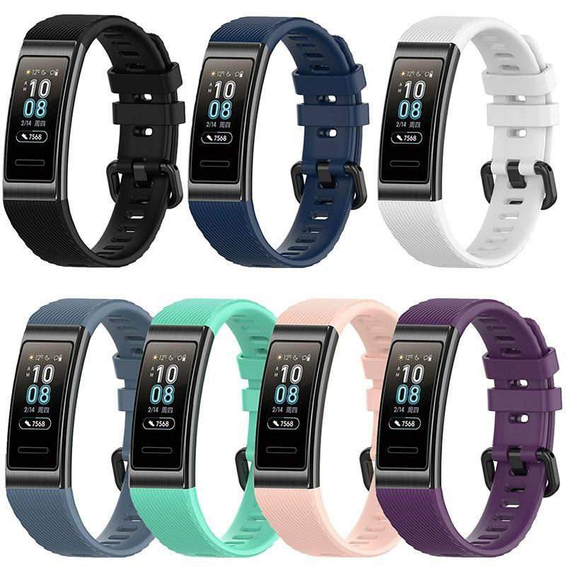 華為Band 3 Pro 手環腕帶 智能手錶替換錶帶 矽膠防震防水錶帶