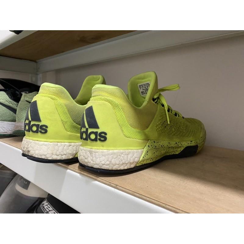 adidas crazy light boost us12 螢光黃 籃球鞋