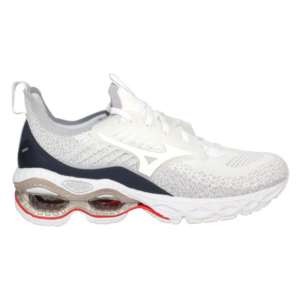 MIZUNO WAVE CREATION 22 WAVEKNIT 女慢跑鞋(「J1GD213301」 白灰藍