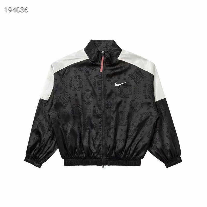 [Fashion City]CLOT聯名系列 黑絲綢提花復古運動外套