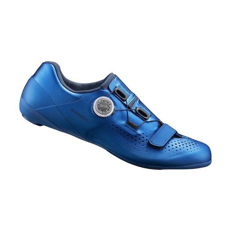 『時尚單車』shimano SH-RC500 公路車鞋 卡鞋 RC5 BOA旋鈕 非寬版 藍色