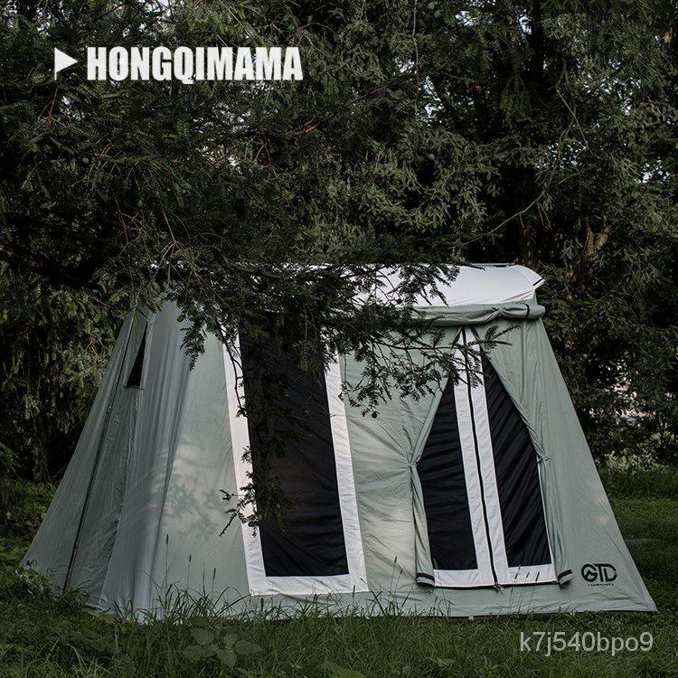 🎪戶外露營🎪GTD冰川沙漠戶外美式帳篷棉布春日帳戶外復古露營4人弓形帳篷