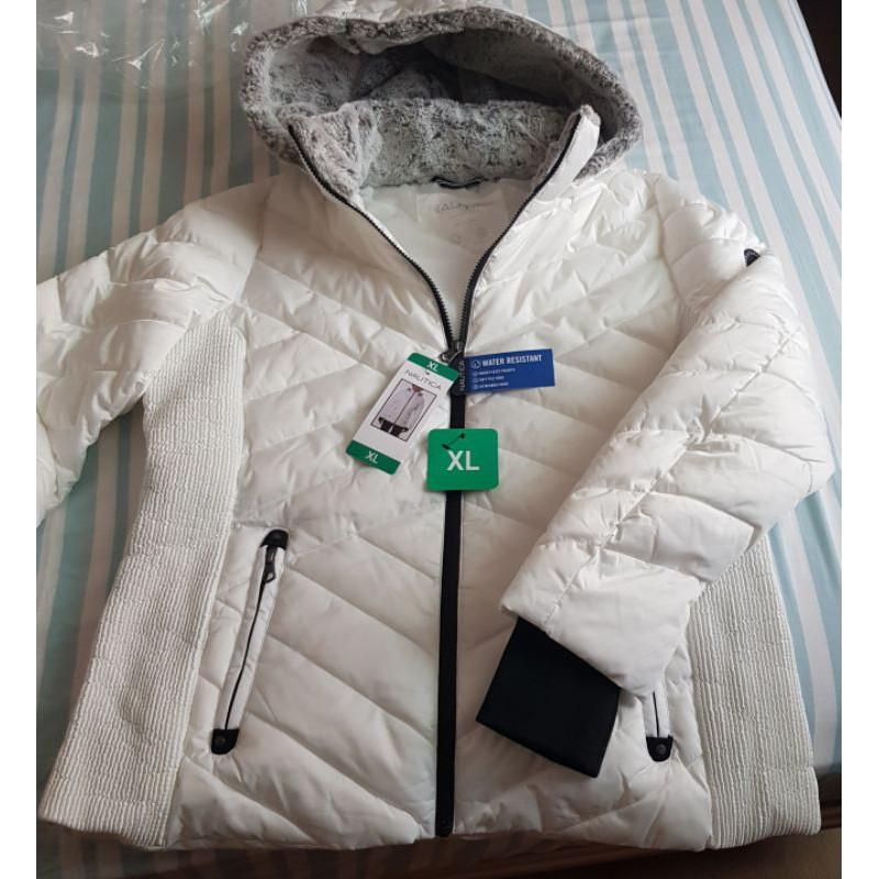 Nautica 全新 縮腰設計連帽鋪棉外套 白色 尺寸XL