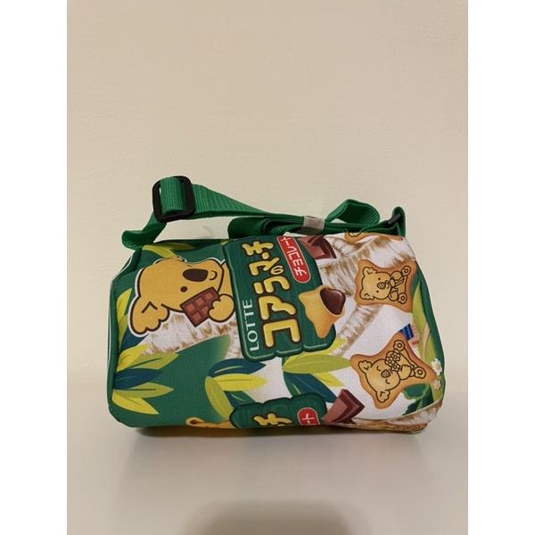 全新 Lotte樂天 小熊餅乾造型後背包 小熊包包 斜背包 側背包 肩背包 包包