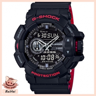 CASIO 卡西歐 G-SHOCK 黑紅 戶外 防水 防震 運動 石英手錶 絕對強悍時重機雙顯錶 GA-400HR 桃園市