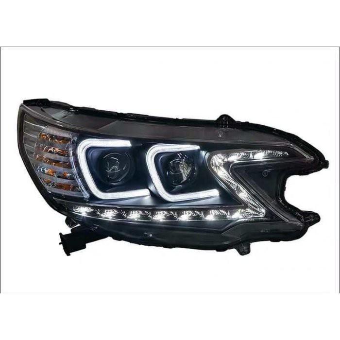 小七的車庫 HID HONDA 12-17 CRV 4代 4.5代 專用 魚眼 大燈 總成 雙C款 光圈 LED 日行燈