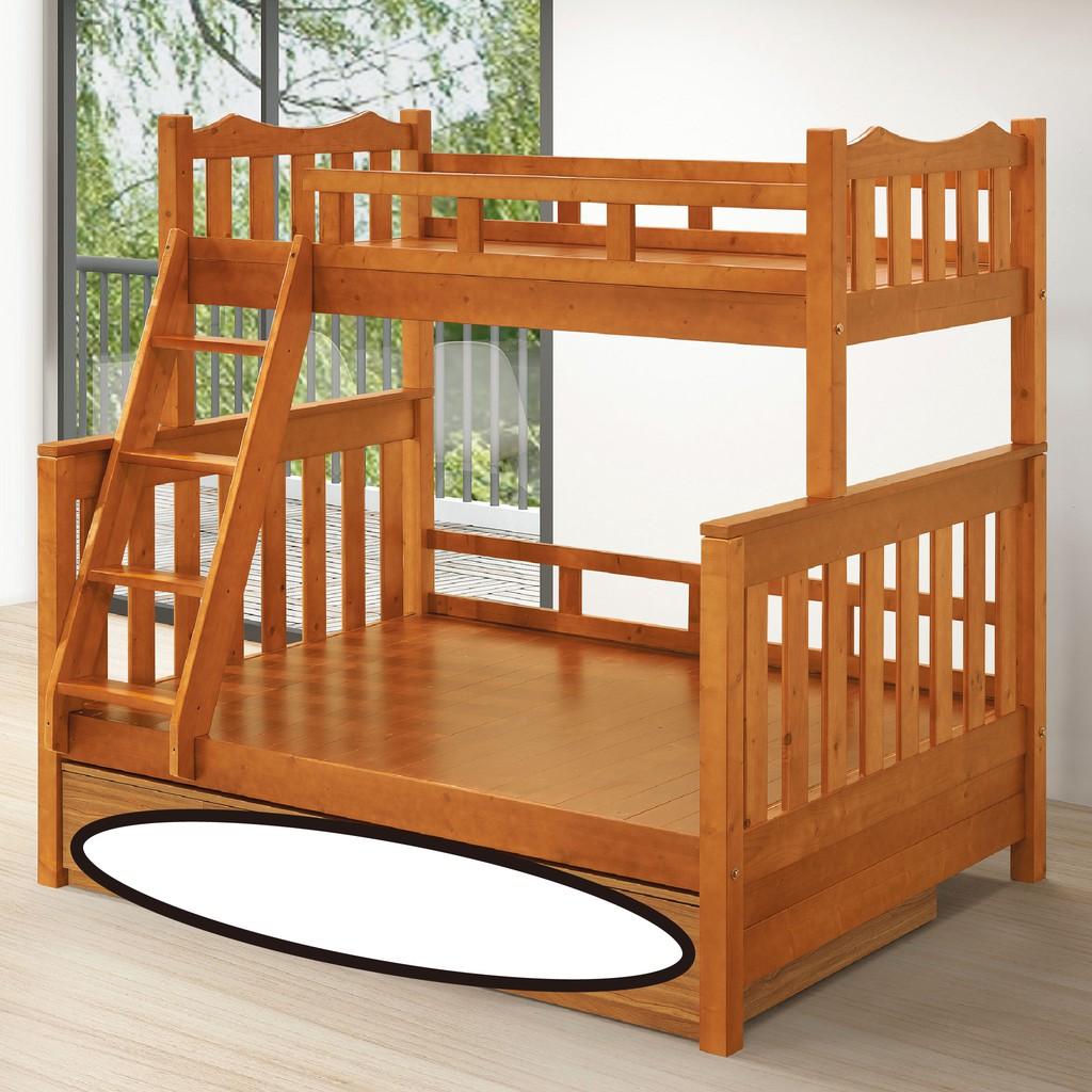 【156cm雙層床-C595-2】床底 床架 高腳床組 抽屜收納 臥房床組 【金滿屋】