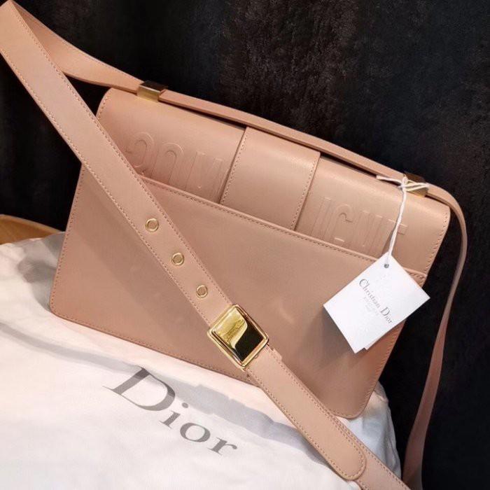 專櫃正品 DIOR MONTAIGNE小牛皮包 M9203UMOS_M257 粉紅色 斜背包 肩背包 多色可選現貨