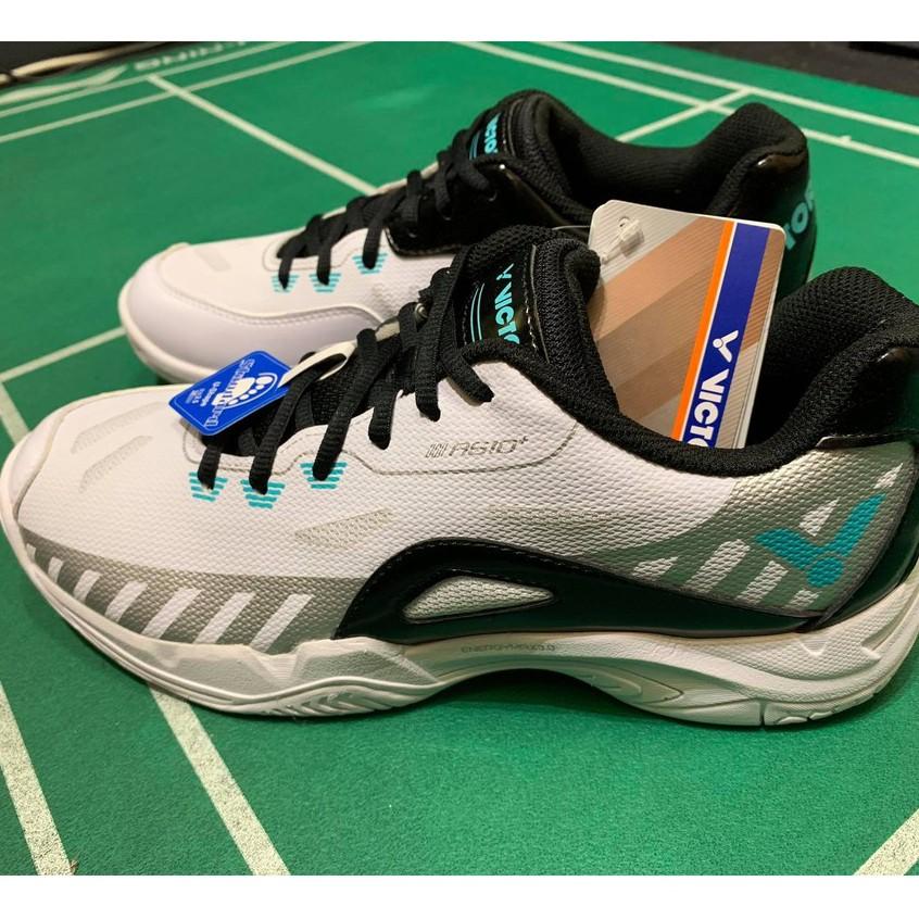 (羽球世家) VICTOR 羽球鞋 勝利 3E楦頭 羽球鞋 A610 PLUS AC 白黑 A 610