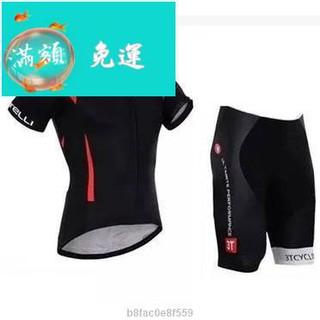 Castelli 黑色蝎子短袖套裝  騎行服 自行車車衣、車褲 套裝 短袖短褲裝 短袖套裝【o5fb092b】 臺南市