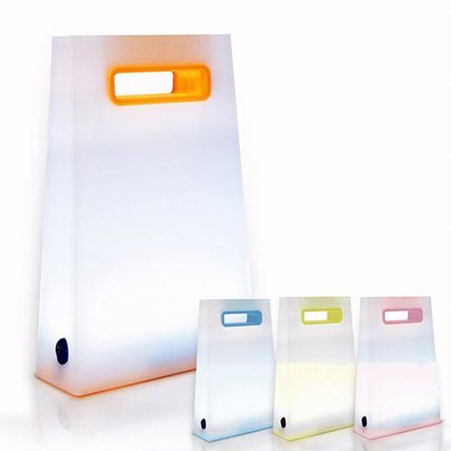 USB LED 提袋造型可充電式小夜燈 夜燈 USB充電 檯燈 小夜燈 充電款 【現貨】