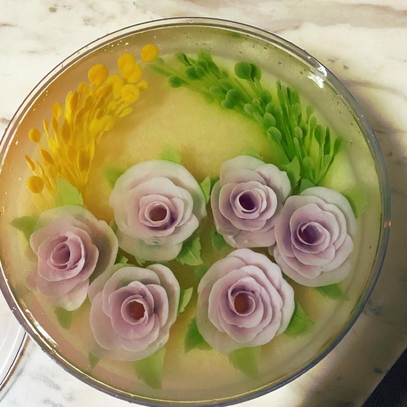8吋果凍花蛋糕(玫瑰花園)