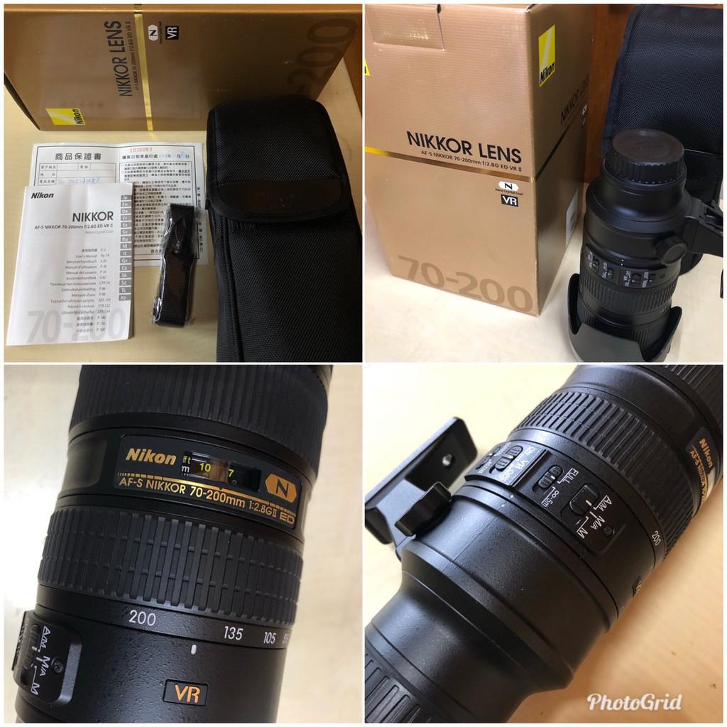 Nikon AF-S 70-200mm F2.8 G ED VR II  小黑六 B+W保護鏡 平輸貨