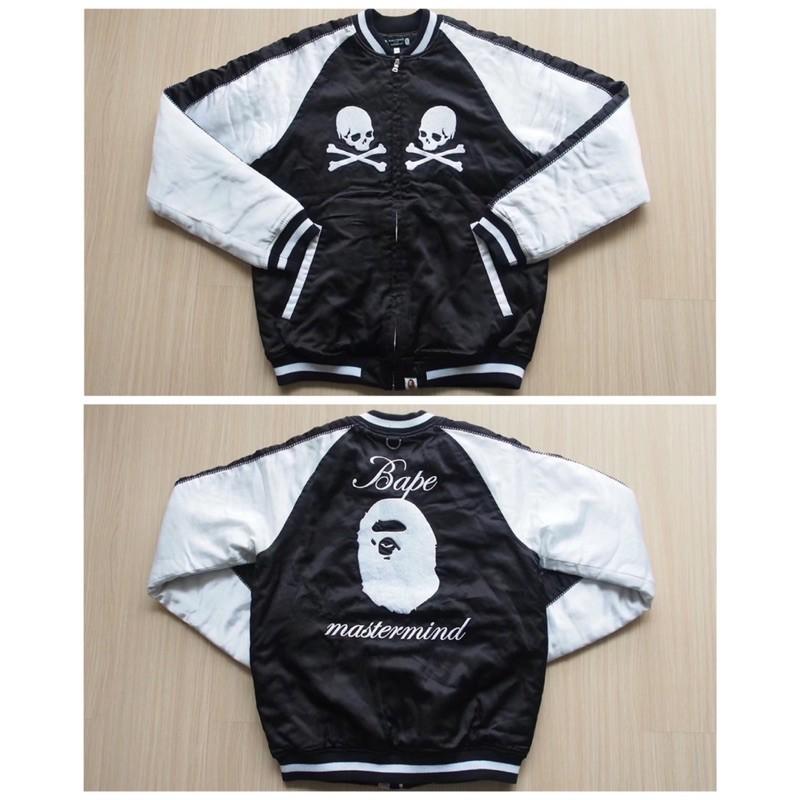 Bape x Mastermind MMJ  Japan 橫須賀絲綢刺繡棒球外套 小棉襖夾克