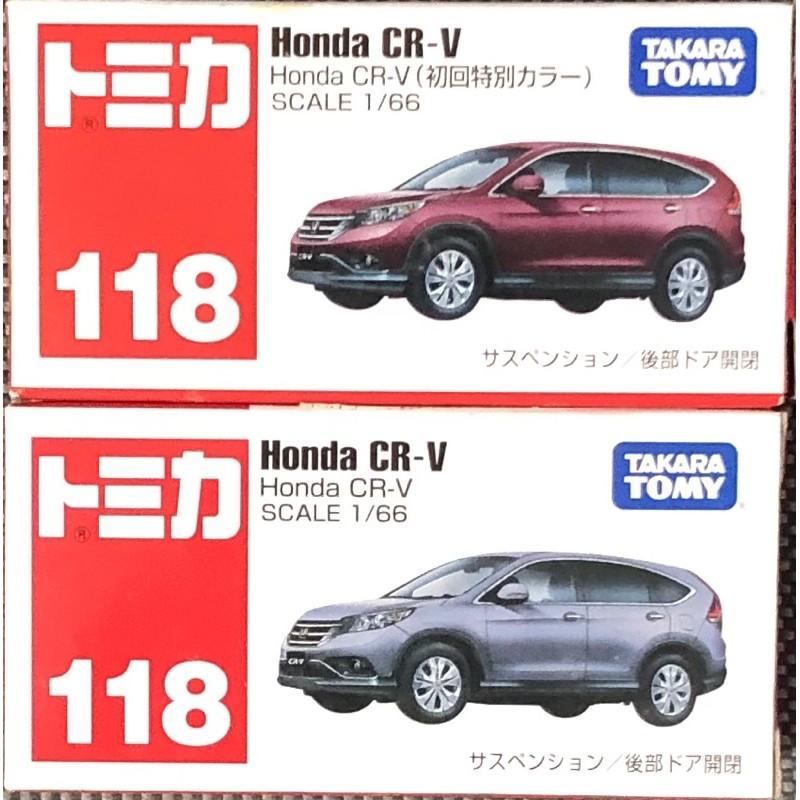 現貨 tomica 118 Honda CR-V 初回+ㄧ般2台合售 CRV 多美小汽車
