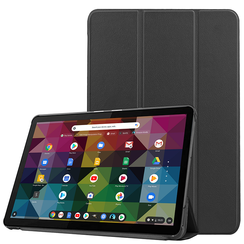 Lenovo Chromebook Duet 10.1 英寸商務支架保護套的可愛繪畫盒