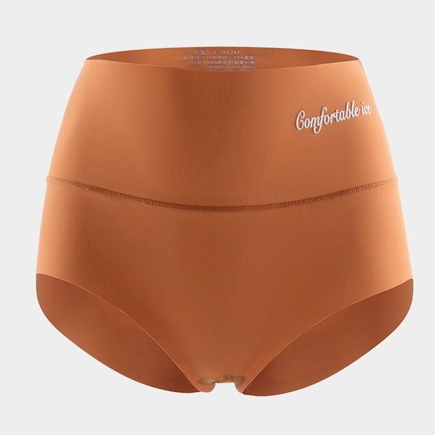 【萬薇】 夏季新品 高腰冰絲無痕束腹提臀3D蘋果臀石墨烯抗菌檔女士內褲