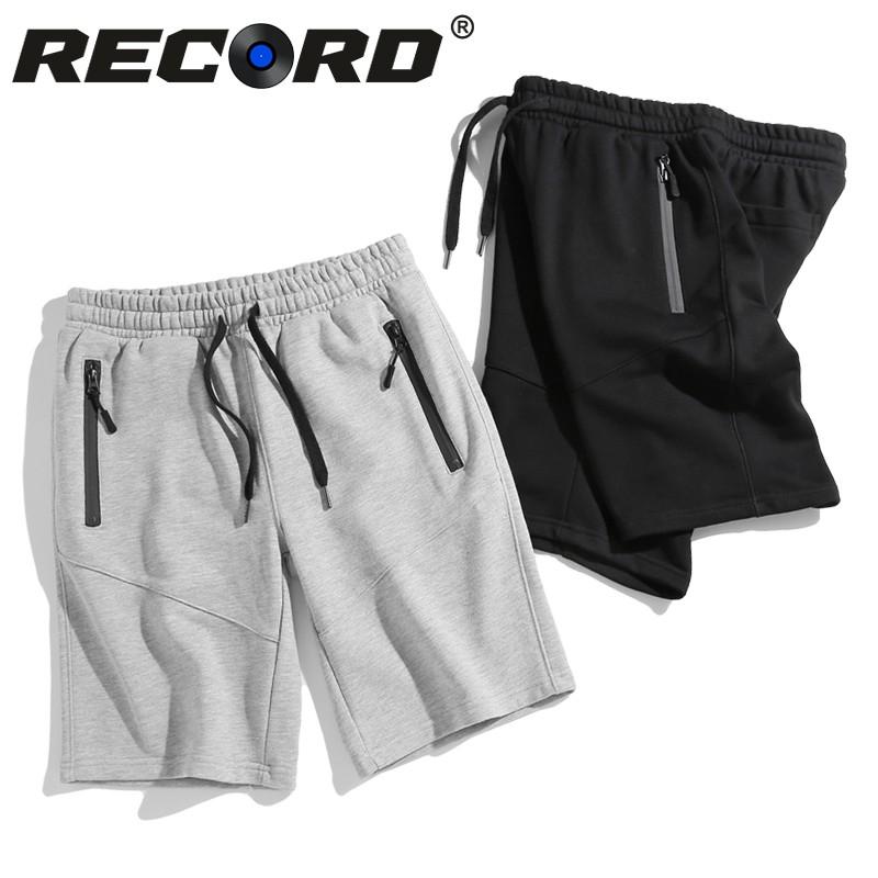 RECORD 雙拉鍊棉褲 棉短褲 短褲 經典 後口袋 素面 棉褲