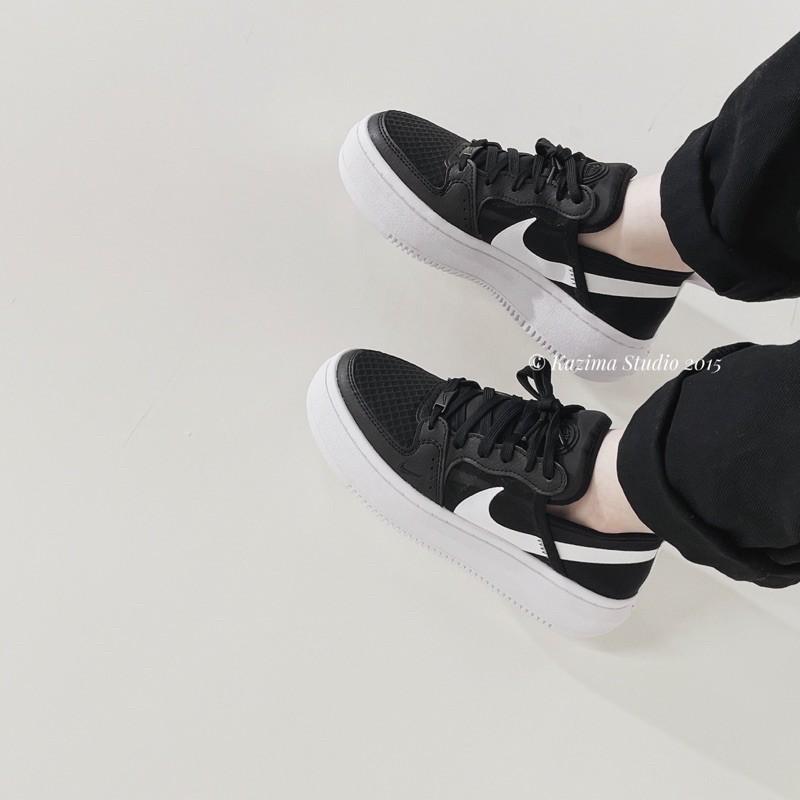 Kazima|Nike Court Vision Mule 厚底 厚底鞋 黑白 踩腳 穆勒 穆勒鞋 透氣 輕量 黑 黑色