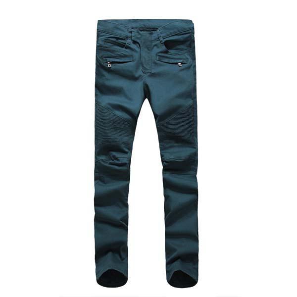 新款新款熱賣巴爾曼BALMAIN JEANS牛仔褲水洗修身小腳牛仔褲破洞拼接拉鏈 E5345168649580