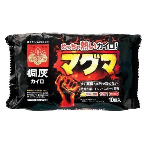 日本製 桐灰 小白兔 可持續12小時 高熱岩漿系列  暖手式暖暖包 10枚入