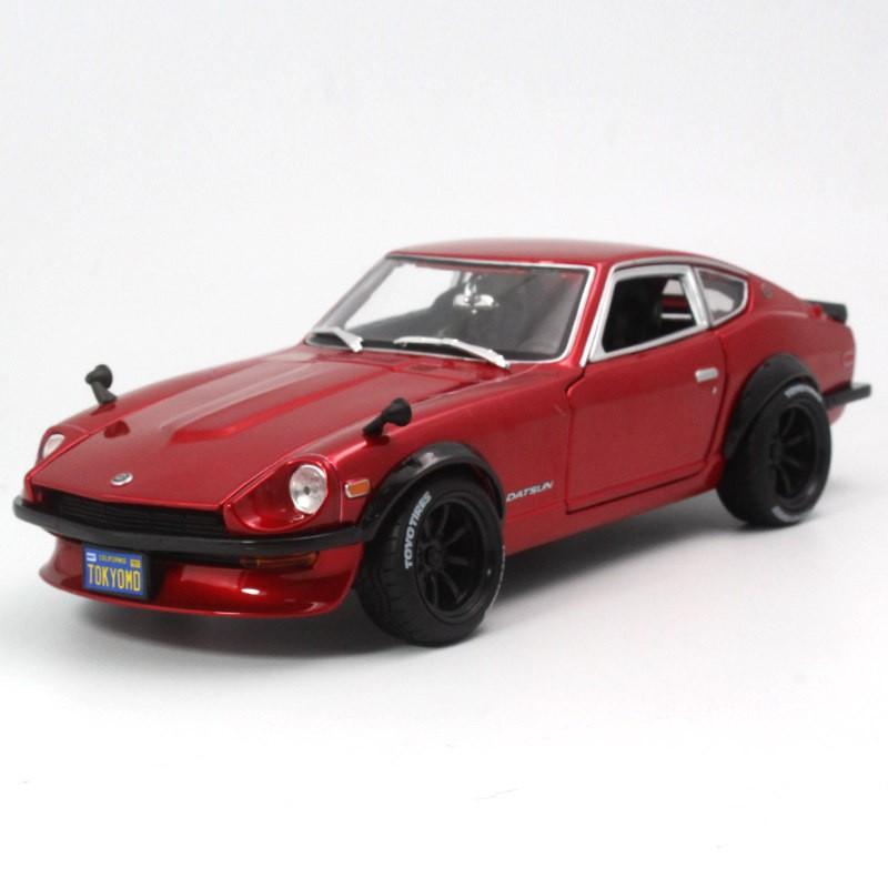 (shm)美馳圖1:18 1971 Datsun 240Z惡魔改裝版跑車合金汽車模型