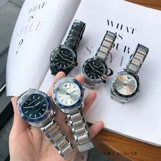 實拍 Armani-阿瑪尼 亞曼尼 新款男士腕錶 外圈刻度可旋轉 經典三針帶日歷 實心鋼帶 蝴蝶雙按扣 男士手錶 桃園市