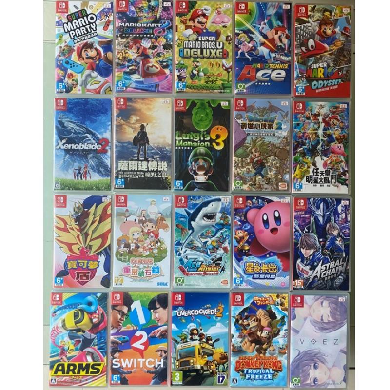 Switch二手遊戲片/瑪麗歐U/派對/賽車/ 網球/奧德賽/創作大師2/星之卡比/刺客教條3/薩爾達/健身環大冒險