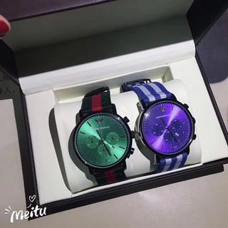 新款全新Armani手錶 阿瑪尼尼龍手錶 阿瑪尼AR男士腕錶 潮流時尚三眼計時多功能 桃園市
