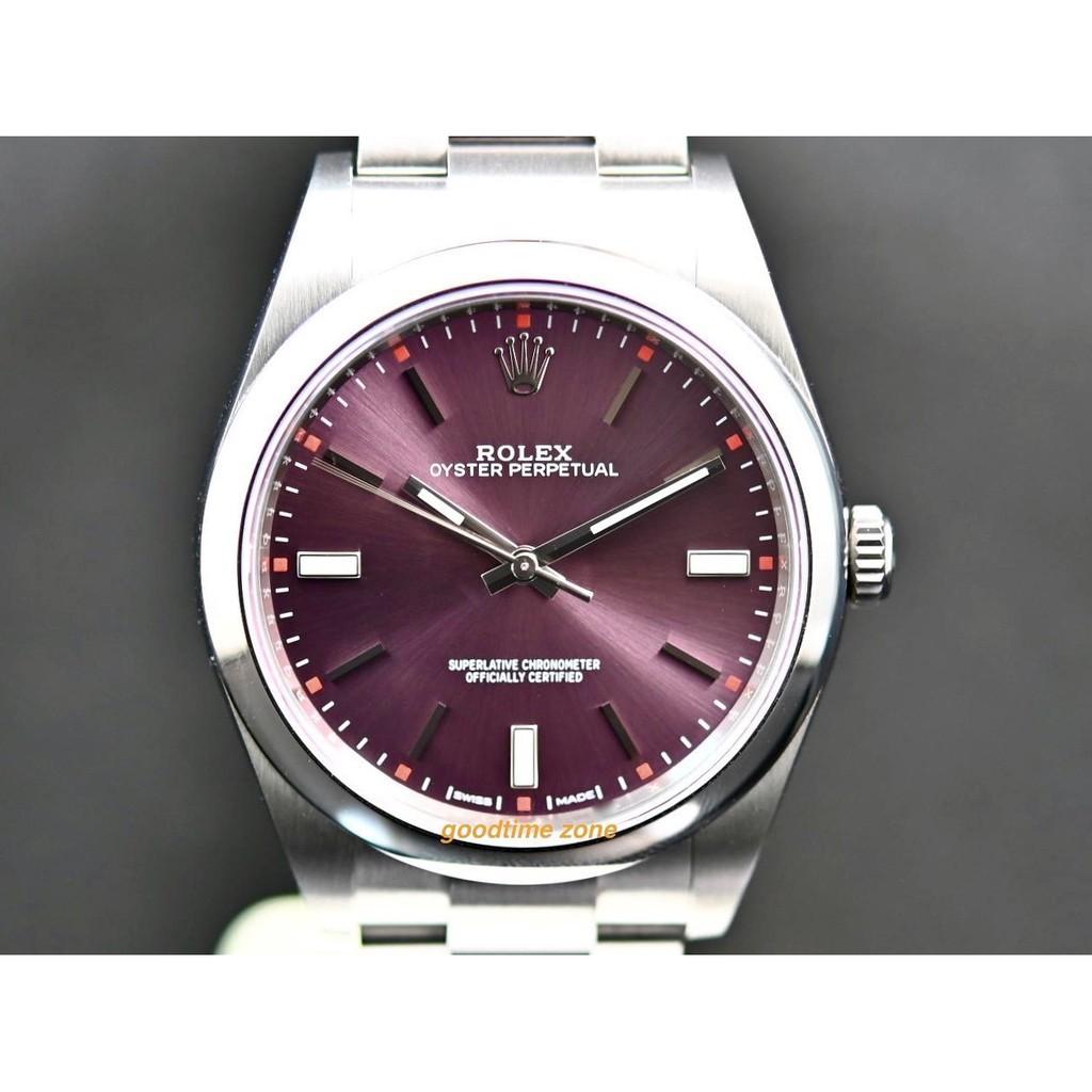 鐘錶國際ROLEX 勞力士 114300 紫色面 2020/01現貨 蠔式 39mm LR922