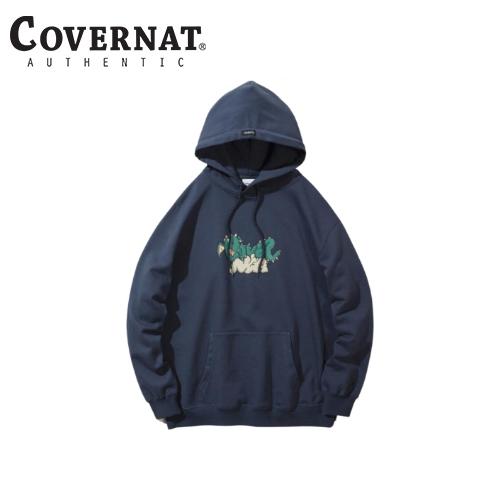 [COVERNAT] 21春夏 Dragon logo 連帽上衣(炭灰藍色)