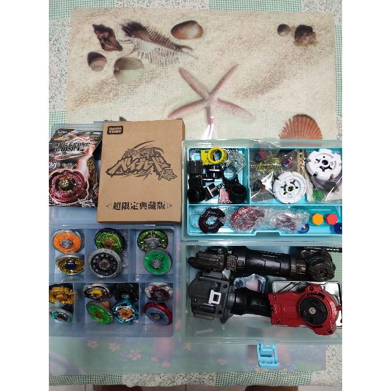 競技戰鬥盤陀螺 戰鬥陀螺套裝組 12顆陀螺 4組發射器 -正版9成5新品