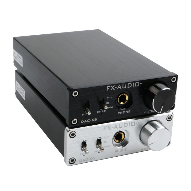 FX-AUDIO DAC-X6 光纖同軸USB解碼耳放一體 DAC 解碼器24BIT/192耳擴