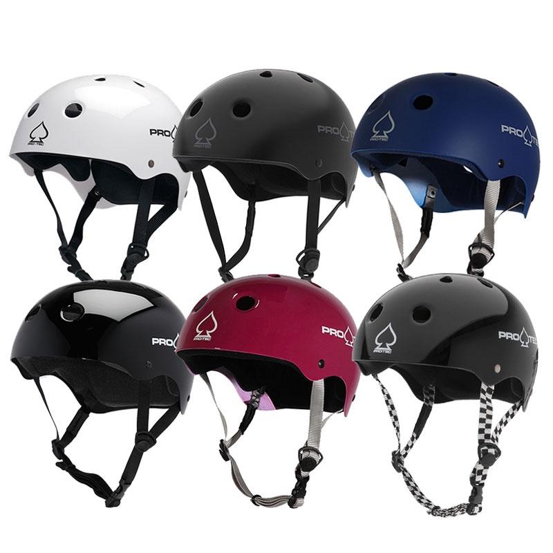 美國PRO-TEC經典款輪滑長板滑板騎行電動車頭盔帽子極限安全帽