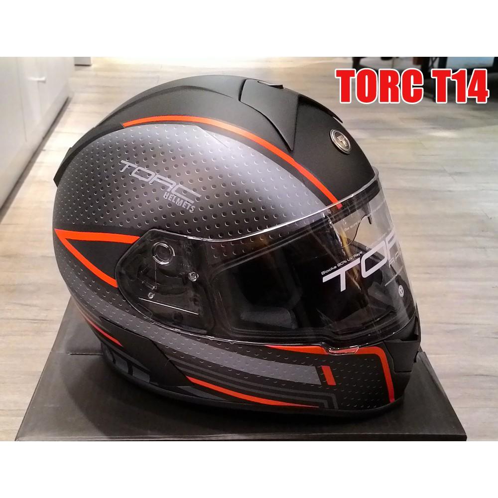 【嘉晟偉士】TORC T14 MAKO 虎鯊 頭槌帽 紅黑 (M)(XL) 雙鏡片 全罩 輕量化安全帽 美式重機 擋車