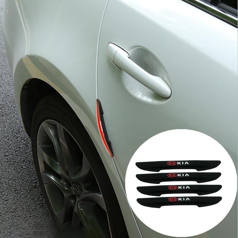 Kia Cerato 最佳最佳 Ceed Borrego Carens 1 套車門邊緣後視鏡保護罩蓋防撞擦條防刮擦貼紙自