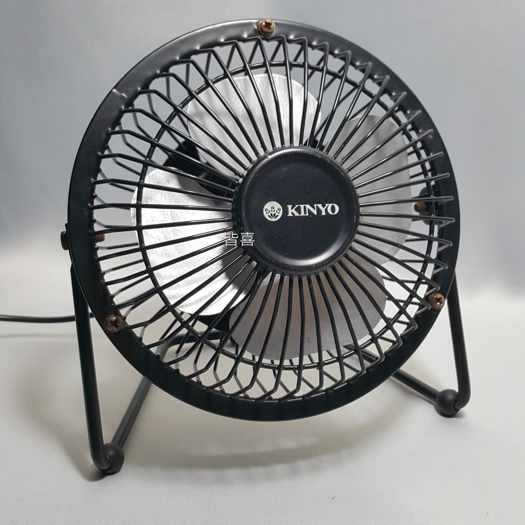 KINYO迷你版工業強力風扇(UF-113)大片扇葉 強力送風 金屬材質 堅固耐用 USB充電 二手