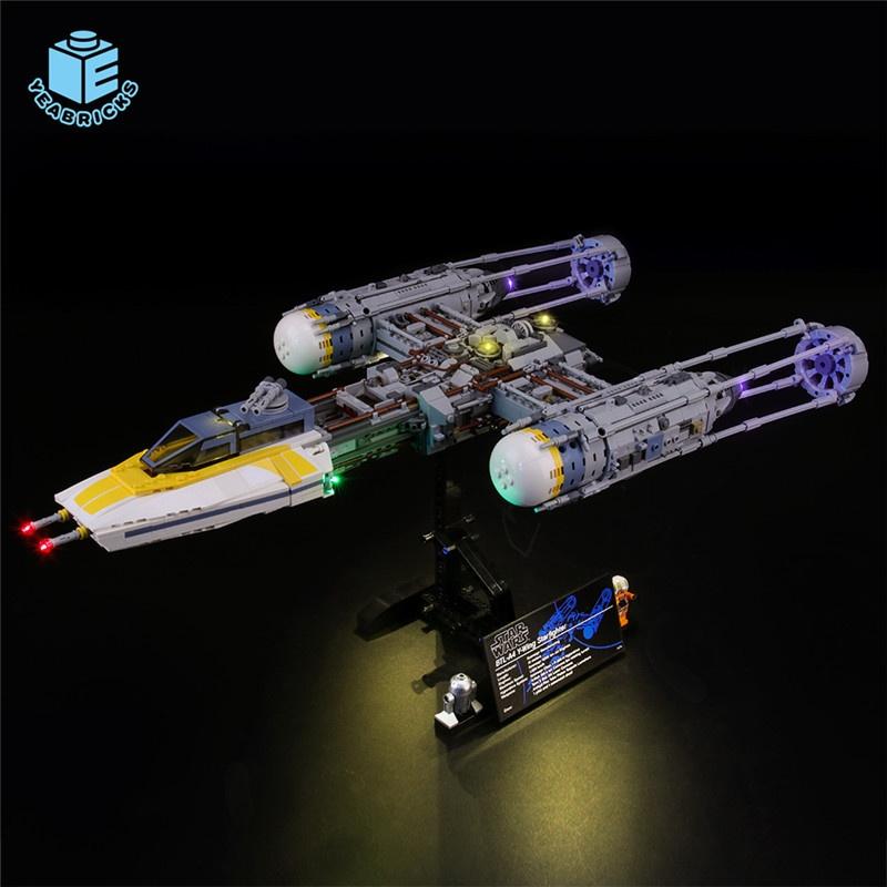 Maomao8911-YEABRICKS兼容樂高LED燈飾75181星戰Y翼星際戰機積木發光配件照明**