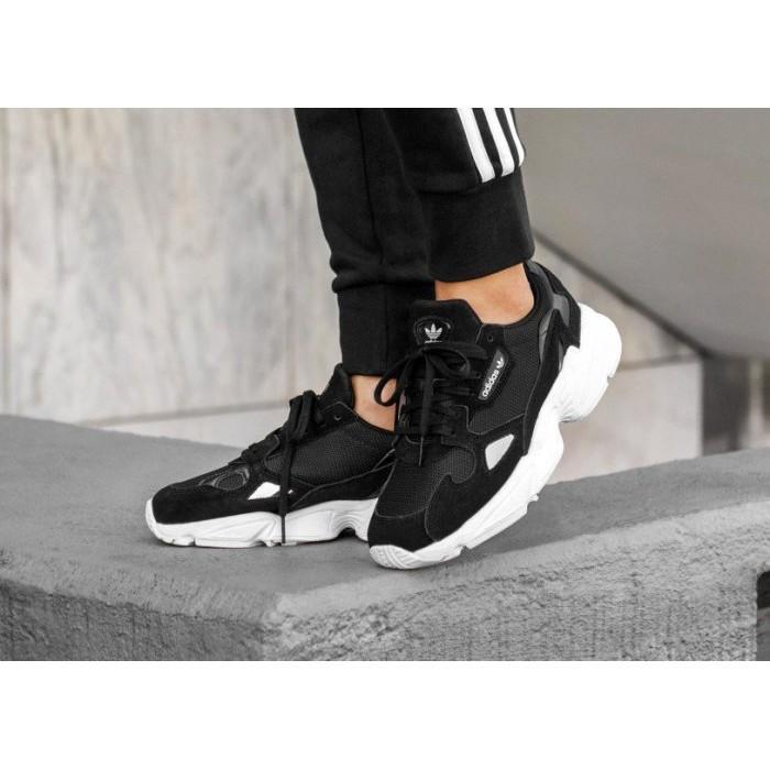 全新ADIDAS ORIGINALS FALCON 黑白 增高 厚底 老爹鞋 許路兒 女鞋 B28129