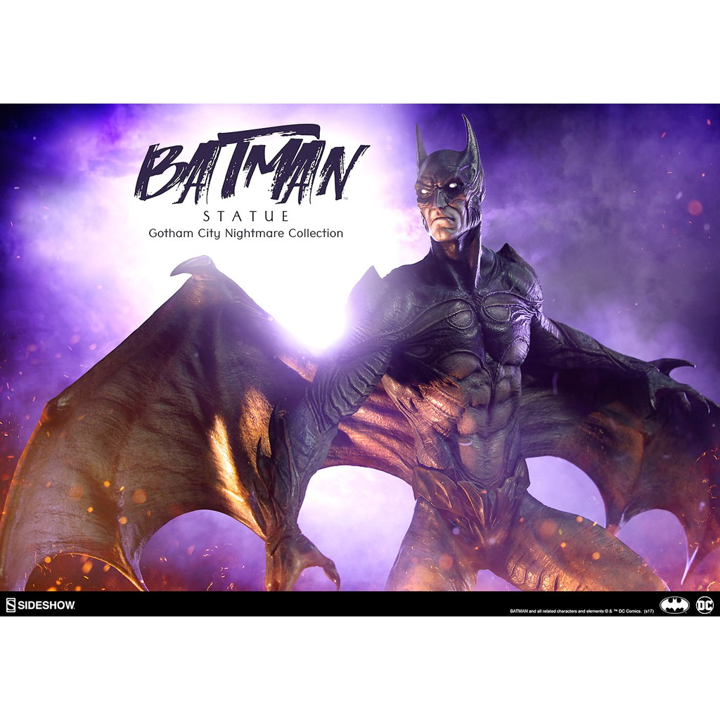 Sideshow Gotham City Nightmare Batman 夢魘蝙蝠俠特別版雕像