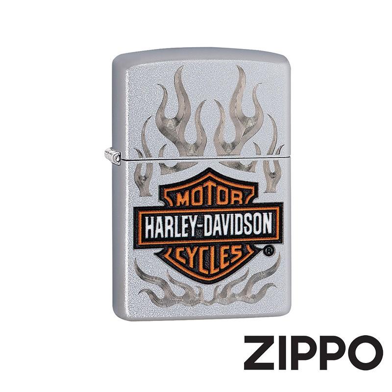 ZIPPO 哈雷雕紋火焰防風打火機 美國設計 29904