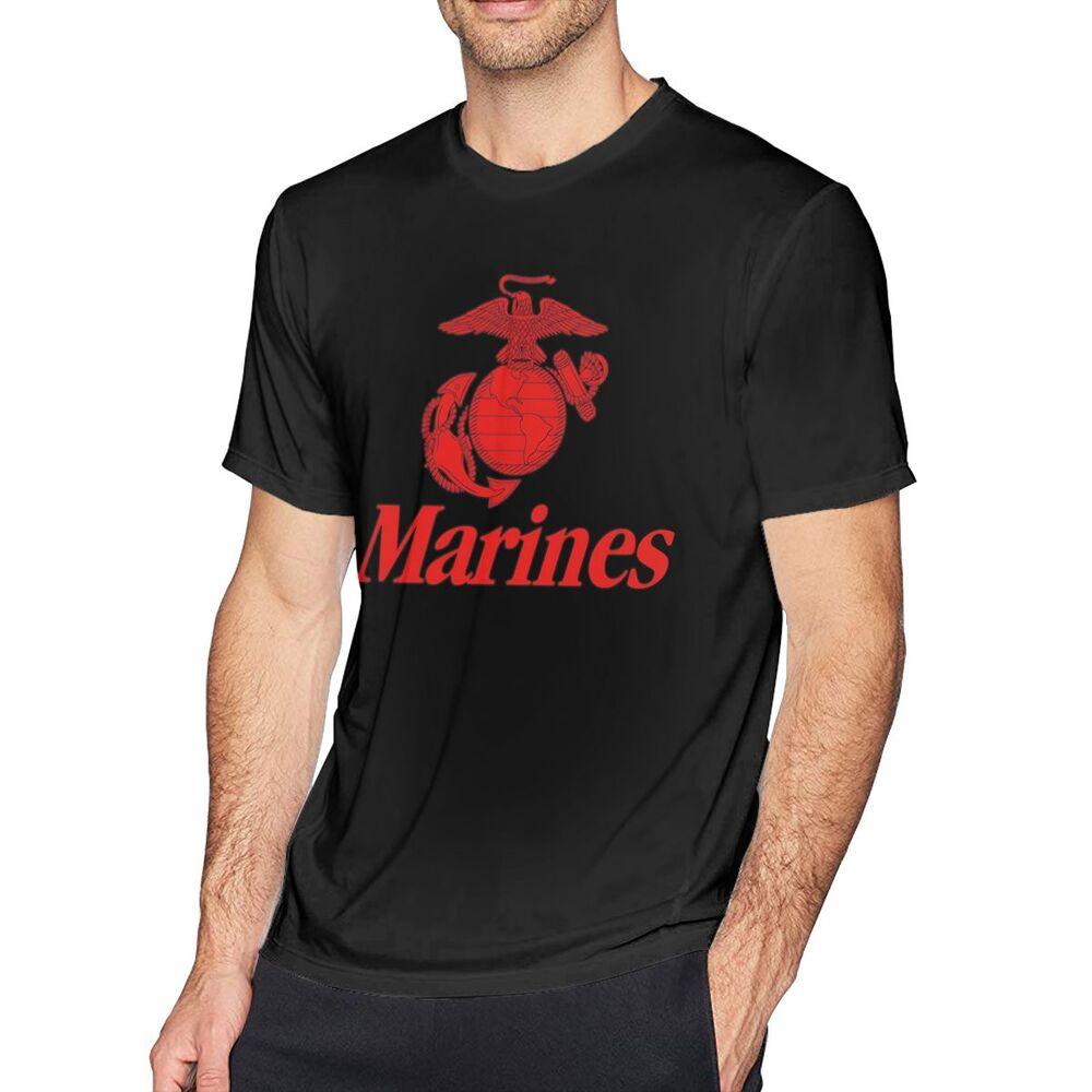 YAYALI Kcenid Marines 美國軍事嘻哈風街頭裝純棉T恤生日禮物