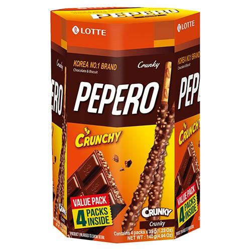 PEPERO 脆心巧克力棒分享盒140g【愛買】