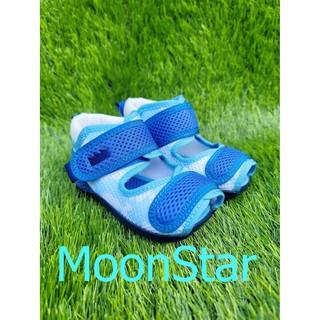 *十隻爪子童鞋*Moonstar月星Carrot機能童鞋魚口透氣學步鞋 寶寶鞋 小涼鞋 藍色:13號 (鞋內長度=13公 臺北市