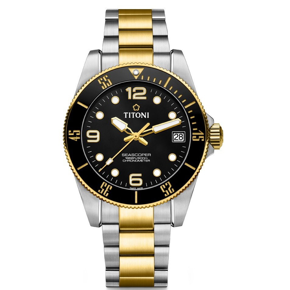 【TITONI 梅花錶】SEASCOPER海洋探索系列 自製機芯 600米潛水錶 83600SY-BK-256預購