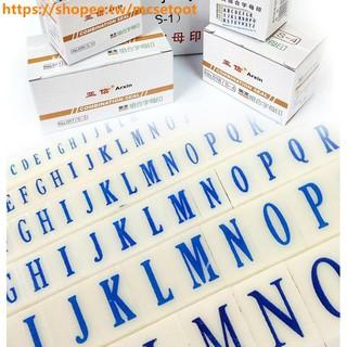 品優小鋪の英文字母組合印 A-Z字母印章 組合章 26個英文大小號字母章No.016(S-2)
