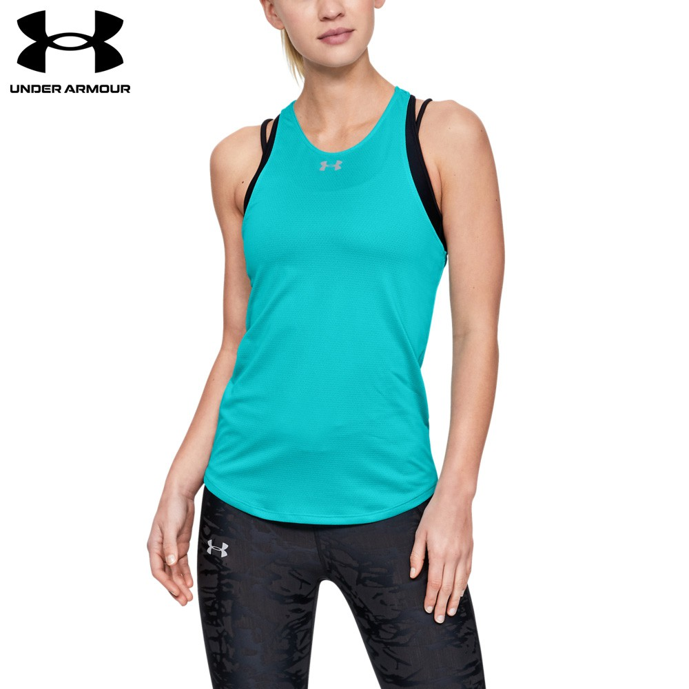 【UNDER ARMOUR】女 Qualifier背心(1326503-400,Fitted)