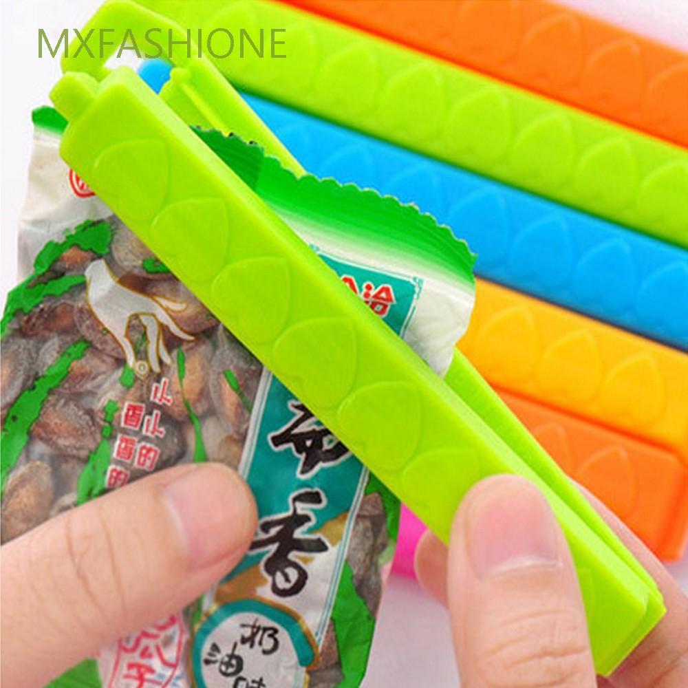 MXFASHIONE 方便塑胶袋食品儲藏助手廚房儲藏食品零食存儲工具大餐夾塑膠卡箍密封夾/多種顏色