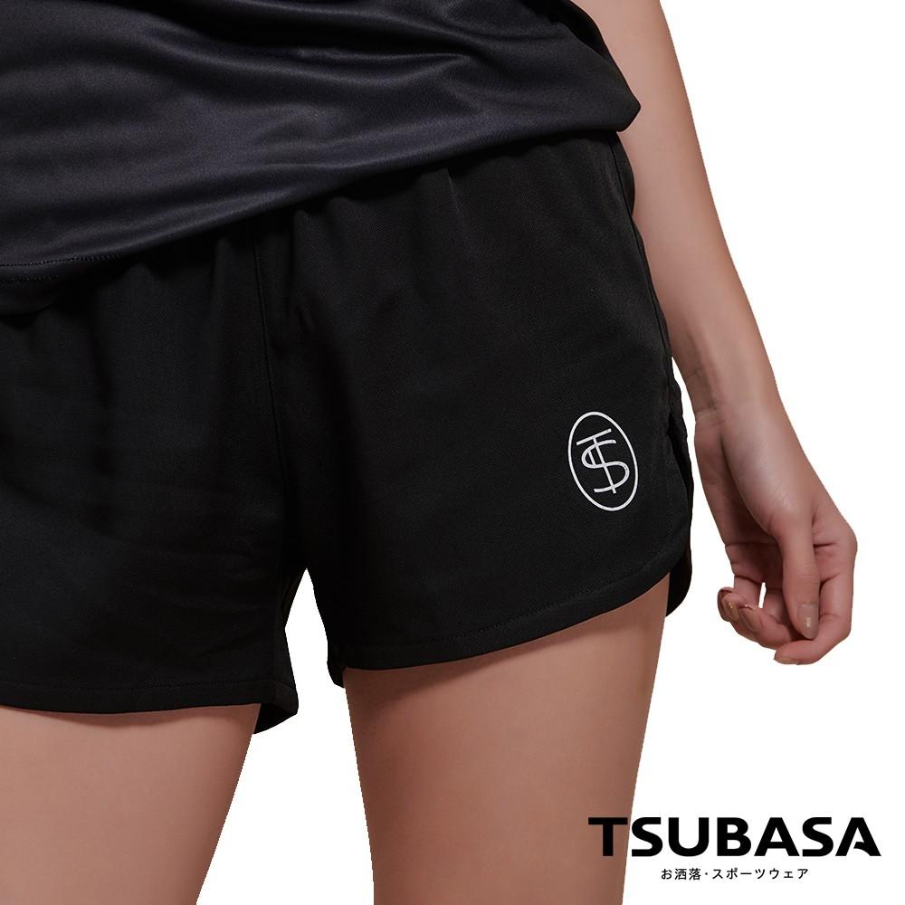 【TSUBASA】ASA楓葉象牙黑 極速乾機能運動短褲 女款