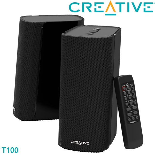 【3CTOWN】限量 含稅 全新公司貨 CREATIVE創新未來 T100 藍牙無線喇叭 二件式